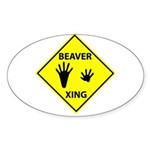 Beaver Crossing Oval Sticker