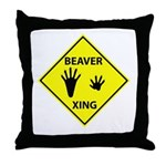 Beaver Crossing Throw Pillow