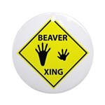 Beaver Crossing Ornament (Round)