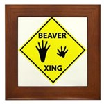Beaver Crossing Framed Tile