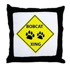 Bobcat Crossing Throw Pillow