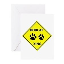 Bobcat Crossing Greeting Cards (Pk of 20)