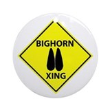 Bighorn Crossing Ornament (Round)