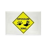 Opossum Crossing Rectangle Magnet (10 pack)
