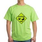 Opossum Crossing Green T-Shirt