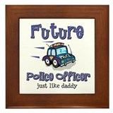 Future Policeman just like Dad Framed Tile