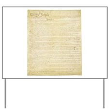 The Us Constitution Yard Sign