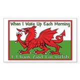 ...T.G.I Welsh... Rectangle Decal