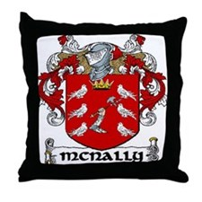 McNally Coat of Arms Throw Pillow