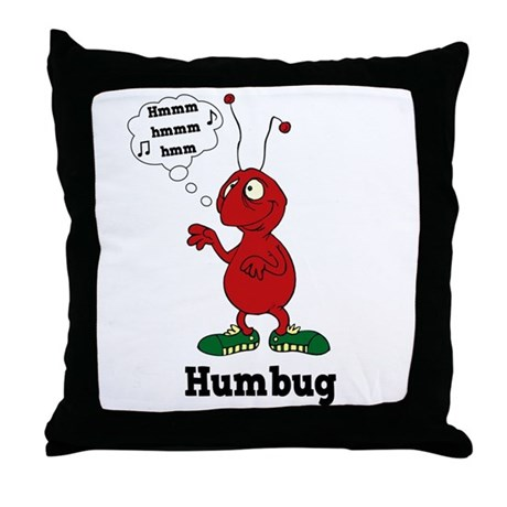 Humbug Throw Pillow
