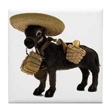 Cute Burro Tile Coaster