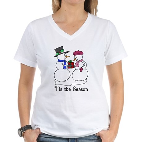 'Tis the Season Women's V-Neck T-Shirt
