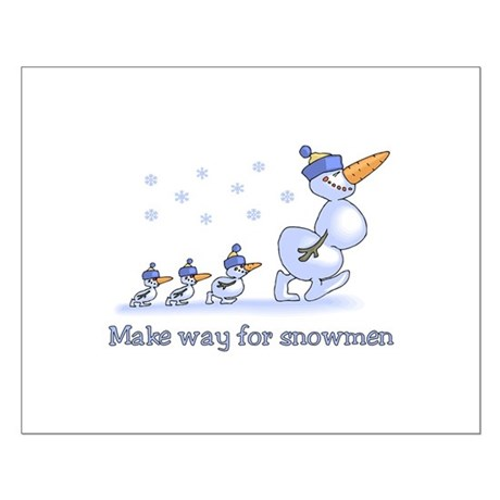 Make Way for Snowmen Small Poster