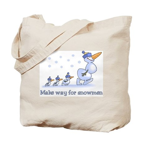 Make Way for Snowmen Tote Bag