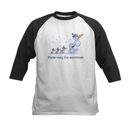 Make Way for Snowmen Kids Baseball Jersey