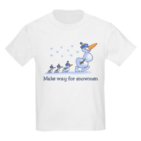 Make Way for Snowmen Kids Light T-Shirt