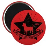 Obey the Chihuahua! Icon Propaganda Magnet
