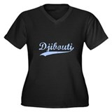 Vintage Djibouti Retro Women's Plus Size V-Neck Da