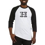 H-Decorative Letters Baseball Jersey