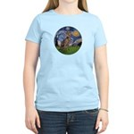 Starry / Weimaraner Women's Light T-Shirt