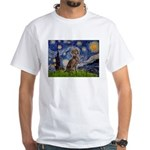 Starry / Weimaraner White T-Shirt