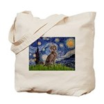 Starry / Weimaraner Tote Bag