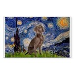 Starry / Weimaraner Sticker (Rectangle)