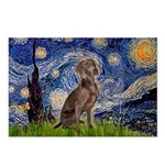 Starry / Weimaraner Postcards (Package of 8)