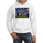 Starry / Weimaraner Hooded Sweatshirt