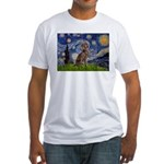Starry / Weimaraner Fitted T-Shirt