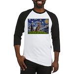 Starry / Weimaraner Baseball Jersey