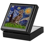 Starry / Weimaraner Keepsake Box