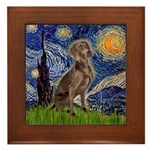 Starry / Weimaraner Framed Tile