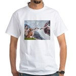 Creation / Weimaraner White T-Shirt