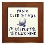 Just Playin' the Back Nine Framed Tile