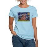 Starry / 2 Weimaraners Women's Light T-Shirt