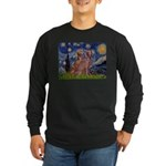 Starry / 2 Weimaraners Long Sleeve Dark T-Shirt