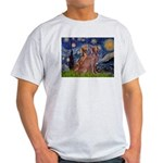 Starry / 2 Weimaraners Light T-Shirt