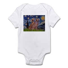 Starry / 2 Weimaraners Infant Bodysuit