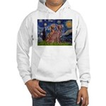 Starry / 2 Weimaraners Hooded Sweatshirt