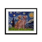 Starry / 2 Weimaraners Framed Panel Print