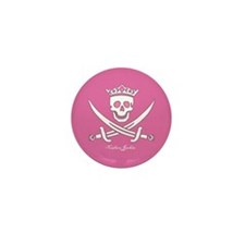 Pirate Pink Mini Button (10 pack)