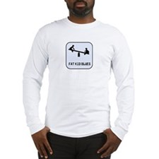 Fat Kid Blues -  Long Sleeve T-Shirt