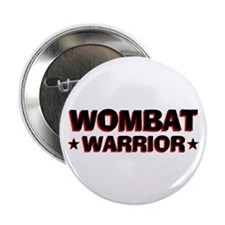 "Wombat Warrior 2.25"" Button (100 pack)"