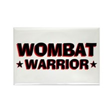 Wombat Warrior Rectangle Magnet
