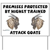 Attack Goats Yard Sign