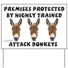 Attack Donkeys Yard Sign