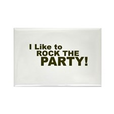 I Like to Rock the Party Rectangle Magnet (100 pac