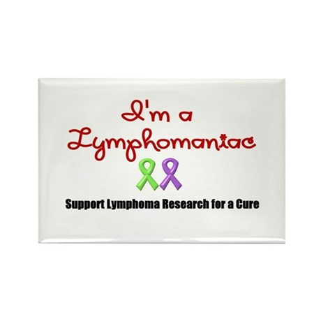 I'm a Lymphomaniac Rectangle Magnet (10 pack)
