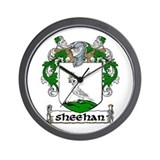 Sheehan Coat of Arms Wall Clock